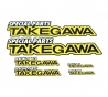 Takegawa sticker set 6x